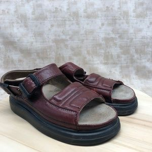 Dr Martens England Made Red Leather Sandals DB14